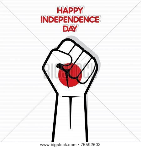 Independence Day of japan, Flag of japan hand design vector