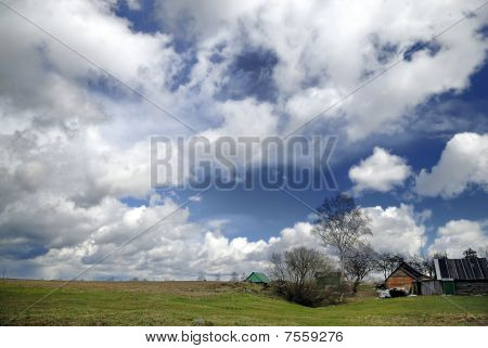 Early Spring Countryside Landscape