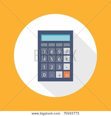 Calculator Flat Concept Icon Vector Illustration