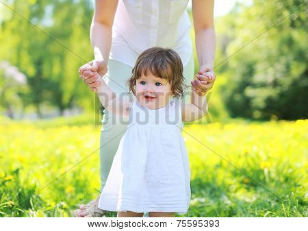 Cute Baby In Summer Day, Happy Sunny Portrait Kid