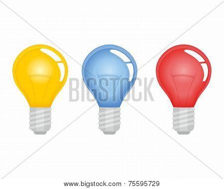 Set Of Electric Lightbulb