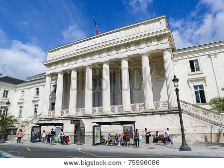 Palais De Justice In Tours, France