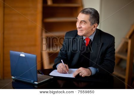 Writing Businessman