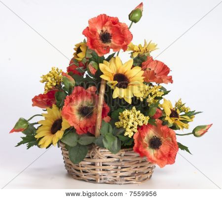 plastic acrylic flower arrangement