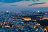 foto of olympic stadium construction  - Athens with the old olympic stadium at dawn - JPG