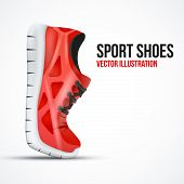 picture of insole  - Running curved red shoes - JPG