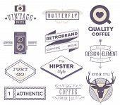 image of labelling  - set of vector hipster modern labels - JPG