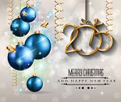 image of christmas theme  - 2015 New Year and Happy Christmas background for your flyers - JPG