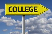image of post-teen  - College creative sign - JPG