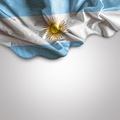 stock photo of bandeiras  - Waving flag of Argentina - JPG