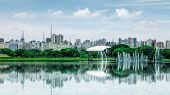picture of fountain grass  - Ibirapuera Park in Sao Paulo - JPG