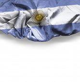 stock photo of bandeiras  - Waving flag of Argentina - JPG