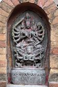 image of bharata-natyam  - An ancient statue of a Hindu goddess showing the symbol of cultural deity  - JPG