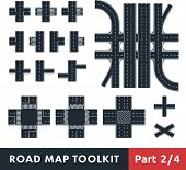 stock photo of pedestrian crossing  - Road Map Toolkit - JPG