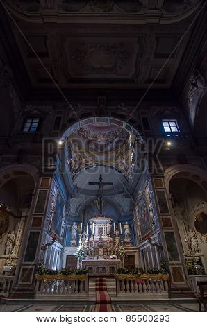 Interior Of The Chiesa Di Ognissanti Is A Church In Florence