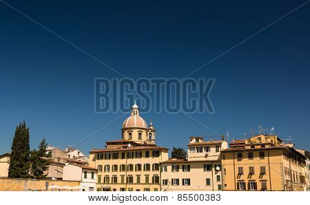 Sunny View Of Church San Frediano In Cestello.