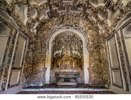 Interior Of The Grotto Of Madma On Boboli Gardens, Florence.