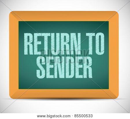 Return To Sender Board Sign Concept Illustration