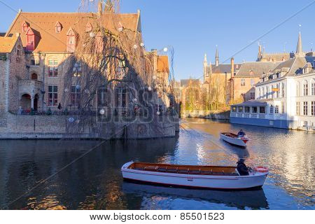 Bruges. Quay Of The Rosary.