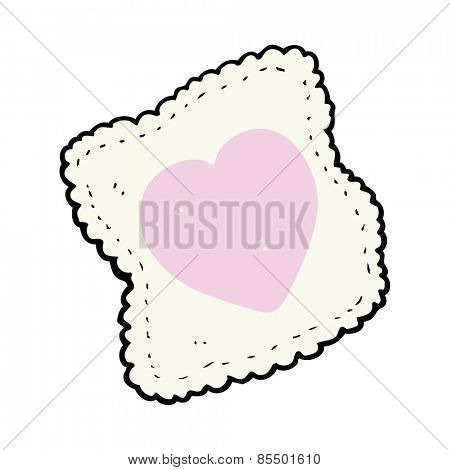 cartoon love heart handkerchief