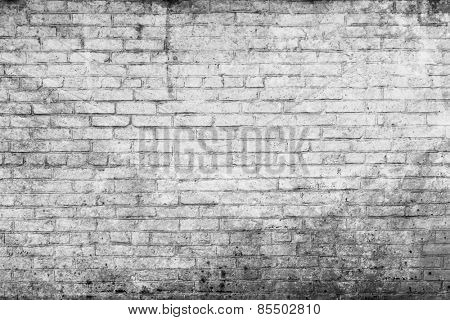 Old street brick wall for background