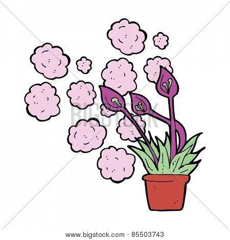 cartoon exotic flowers