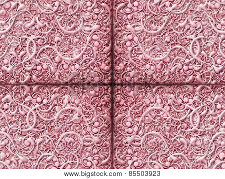 Abstract Scroll Pink Background Pattern