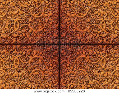 Abstract Scroll Golden Orange Background Pattern