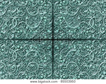 Abstract Scroll Turquoise Background Pattern