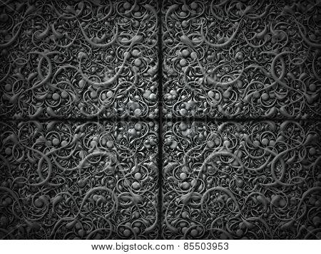Abstract Scroll Black Background Pattern