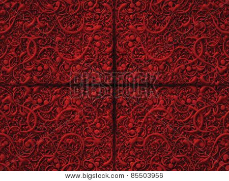 Abstract Scroll Red Background Pattern