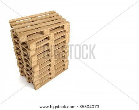 3d image of classic wood pallet