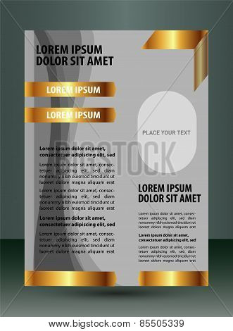 Design layout template - brochure of flyer