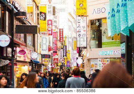 People At Myeong-dong. Korea