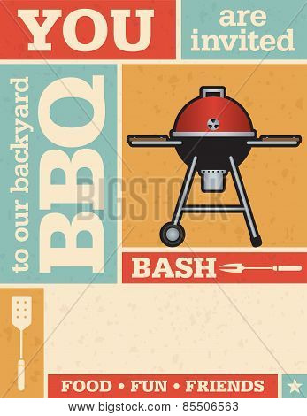 Retro Barbecue Invitation