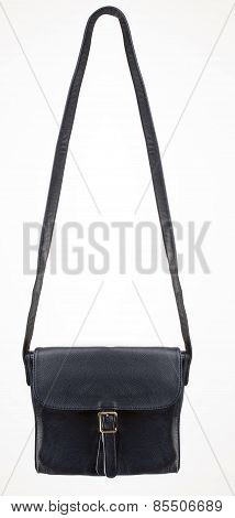Black Leather Bag with one clasp