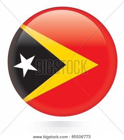 East Timor flag button