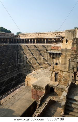 Chand Baori Stepwell In The Village Of Abhaneri, Rajasthan