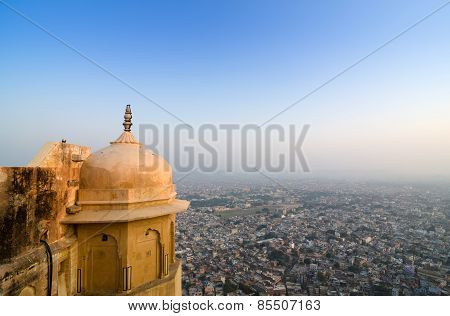 View To Jaipur City From Nahargarh Fort