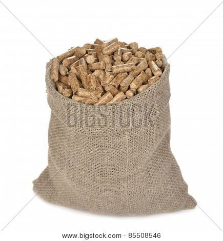 Wood Pellets In The Bag