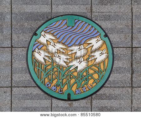 Manhole Cover in Himeji Japan