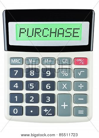 Calculator With Purchase