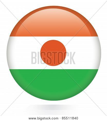 Niger Flag button