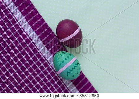 Bright Set Of Easter Eggs