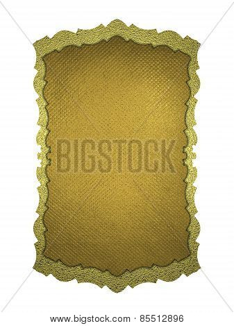 Yellow Plate With Patterns On A White Background. Design Template