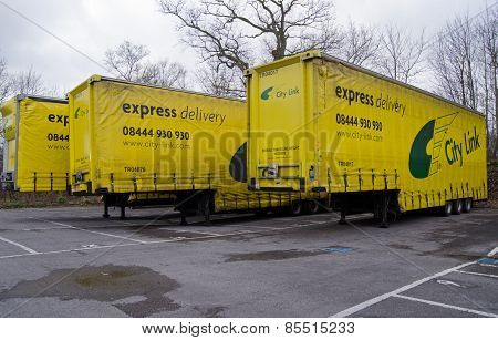 City Link lorry trailers