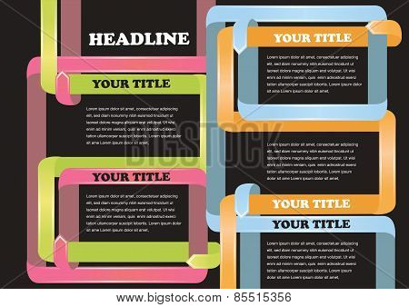 Black Page Layout Template For Business Presentation