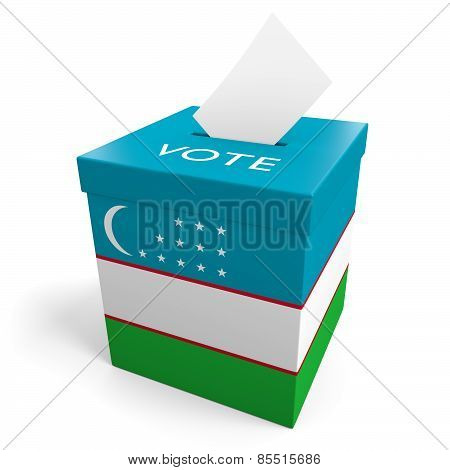 Uzbekistan election ballot box for collecting votes