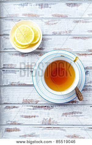 A cup of earl grey tea