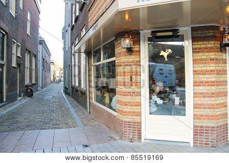 People Relax In The Restaurant In  Dutch City Of Den Bosch